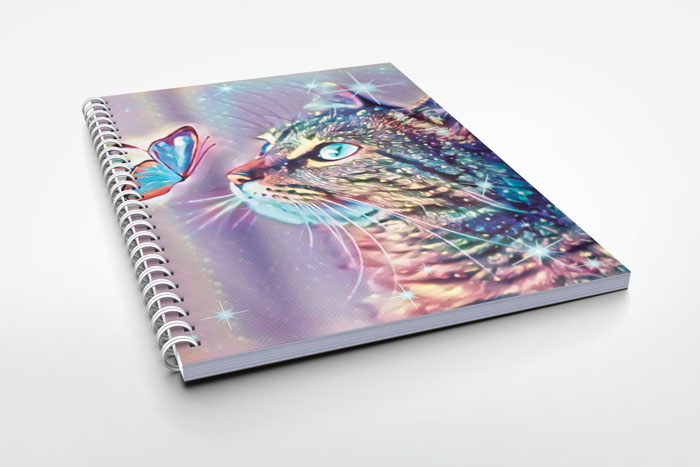 cat design notebook