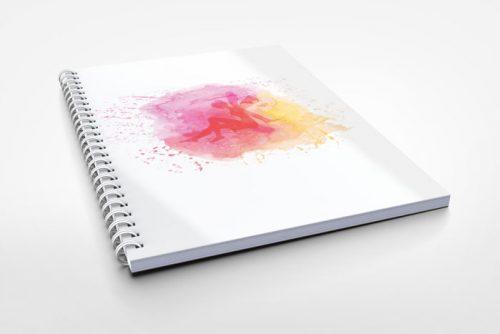 fairy art notebook design