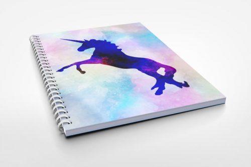 unicorn design notebook