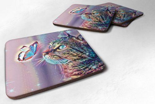 cat design coasters
