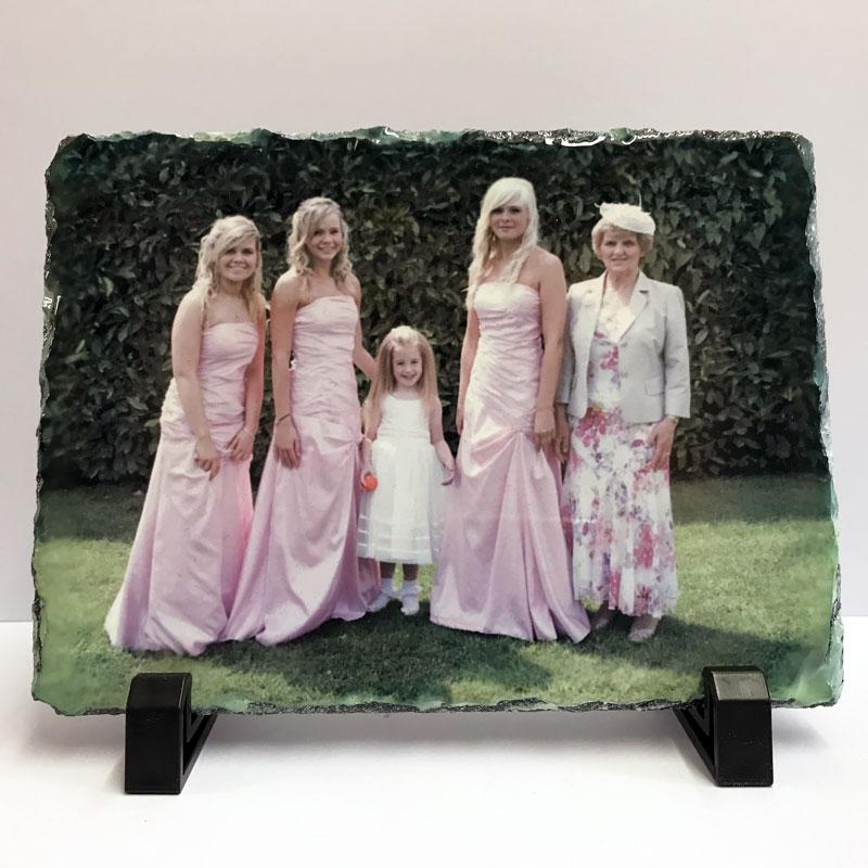 rectangular photo print rock slate