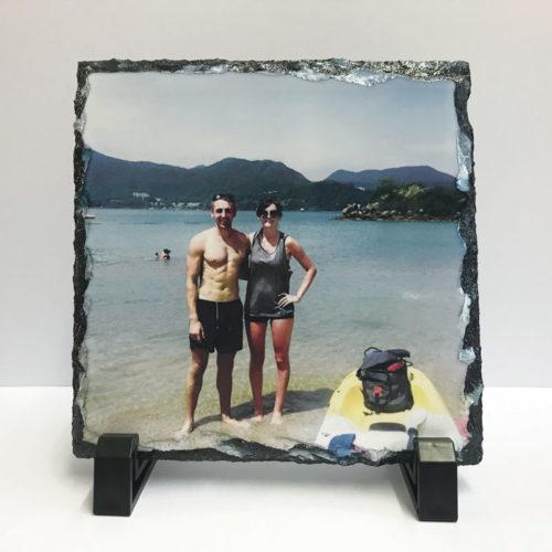 custom photo rock slate print