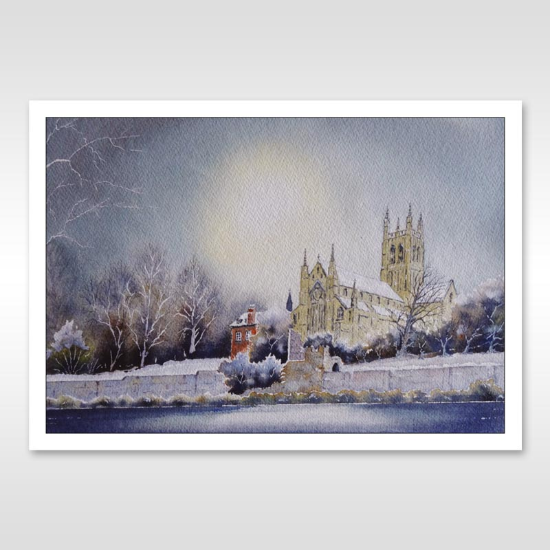 worcester cathedral postcard