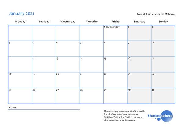 malvern calendar dates