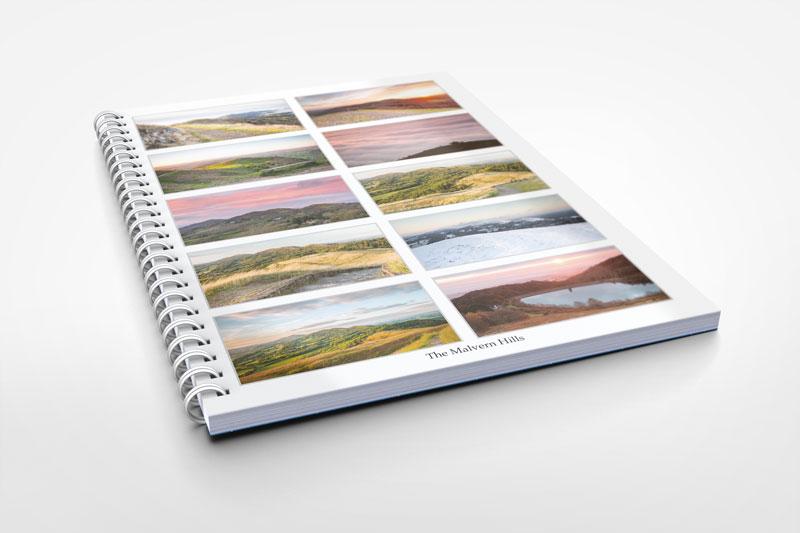 malvern hills themed notebook stationery
