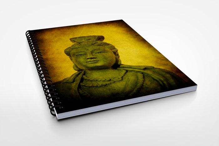 Notebook with Buddha artwork cover