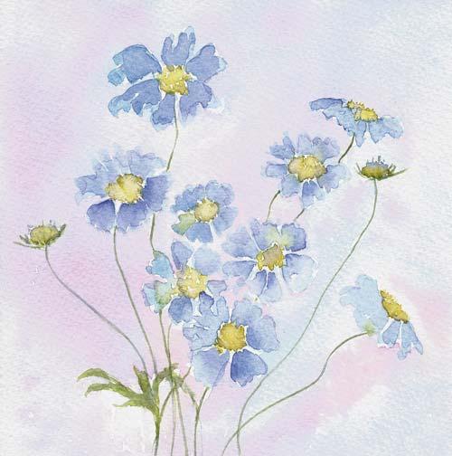 butterfly blue art