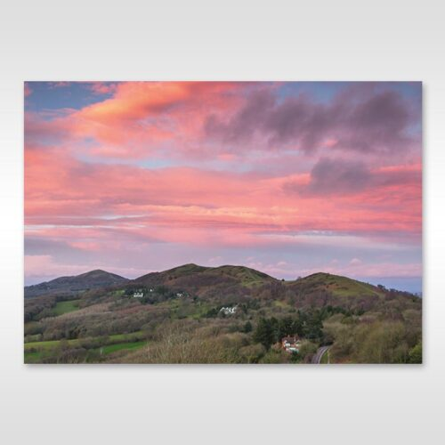 Colourful Sunset Over Malverns