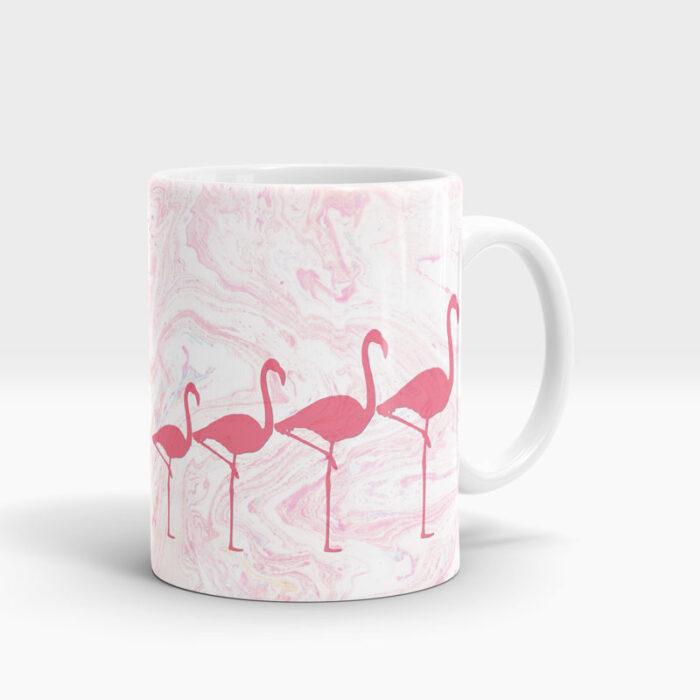 flamingo print mug