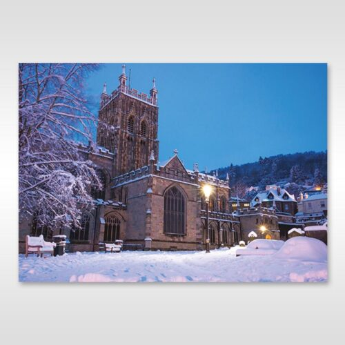 Great Malvern Priory in the Snow