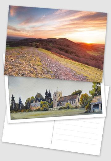 Worcester local postcards