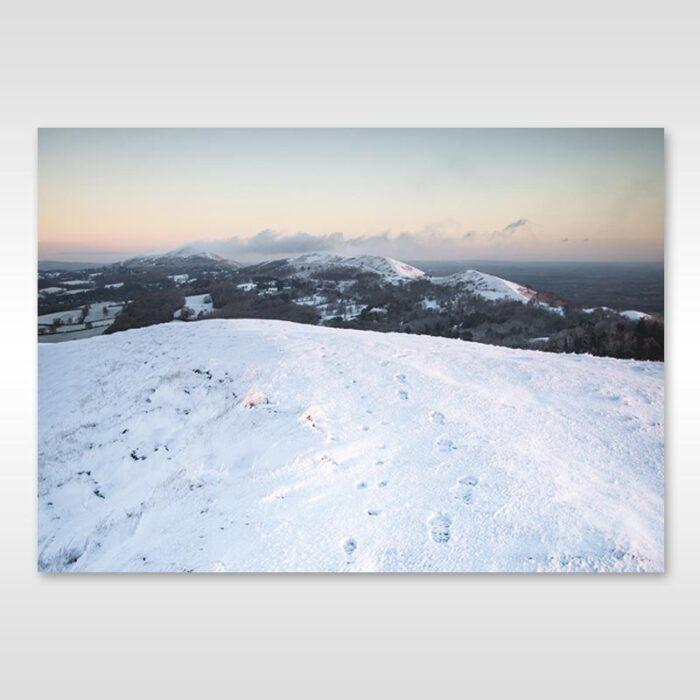 Snow-capped Malvern Hills
