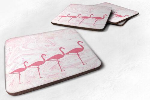 flamingo artwork coaster gift